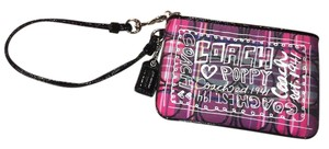 Coach Wristlet in Pink, Purple, Black, and White