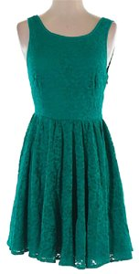 Pins and Needles short dress Teal on Tradesy