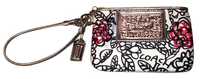 Item - Poppy Collection White Black and Pink Silk Wristlet