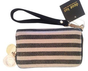 deux lux Wristlet in Black/Gold/Beige