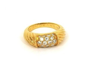 Van Cleef & Arpels Diamond Streamlines 18k Gold band Ring