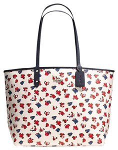 Coach Satchel 36126 36609 Tote in SILVER/CHALK MULTI MIDNIGHT