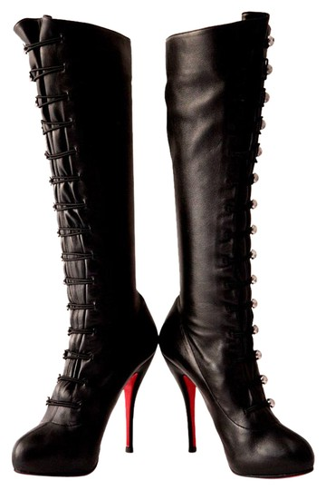 Preload https://img-static.tradesy.com/item/21302741/christian-louboutin-black-silver-buttons-fifre-405itcorset-leather-platform-knee-high-heel-red-sole-0-1-540-540.jpg