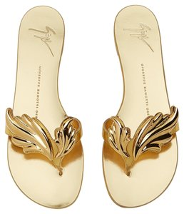Giuseppe Zanotti Wings Metallic Gold Sandals