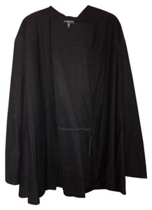 Eileen Fisher Top Black Open Cardigan/Jacket