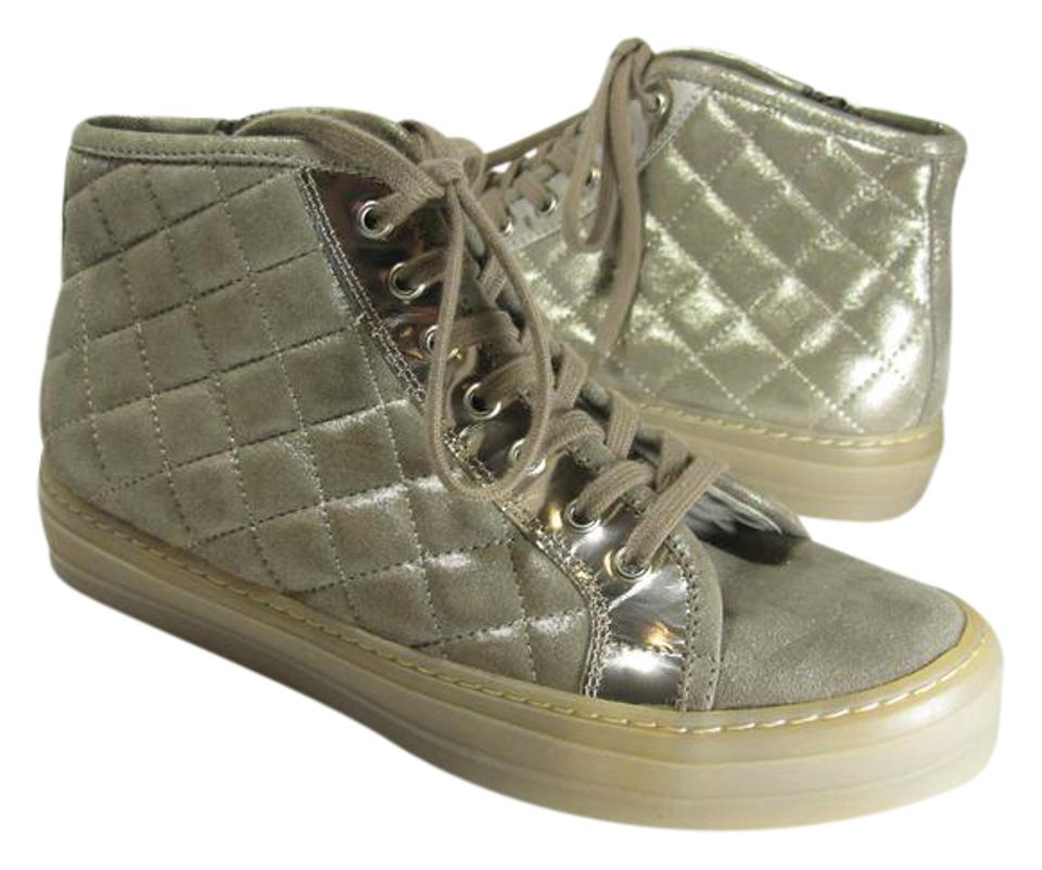 Attilio Giusti Leombruni Ginger-golden High New Gold Quilted Leather High Ginger-golden Top Sneakers Sneakers 64f943