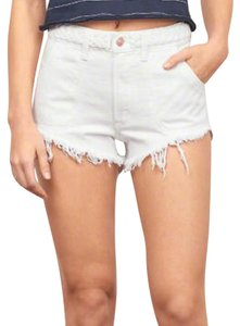 Abercrombie & Fitch Cut Off Shorts white