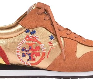 Tory Burch Gold/Camel Athletic