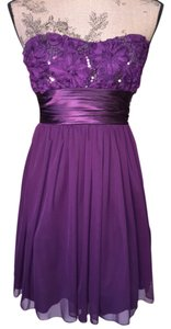 Speechless size 3 Sequined Strapless Satin Flowered Dress