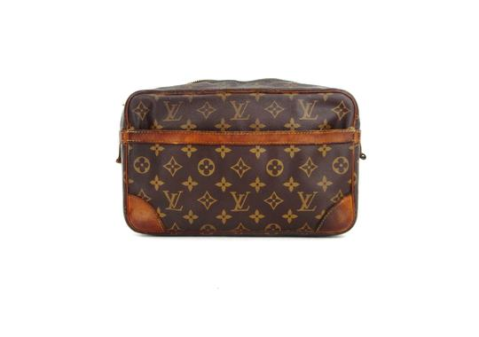 louis vuitton compiegne 23 monogram canvas leather makeup travel dopp bag. Black Bedroom Furniture Sets. Home Design Ideas