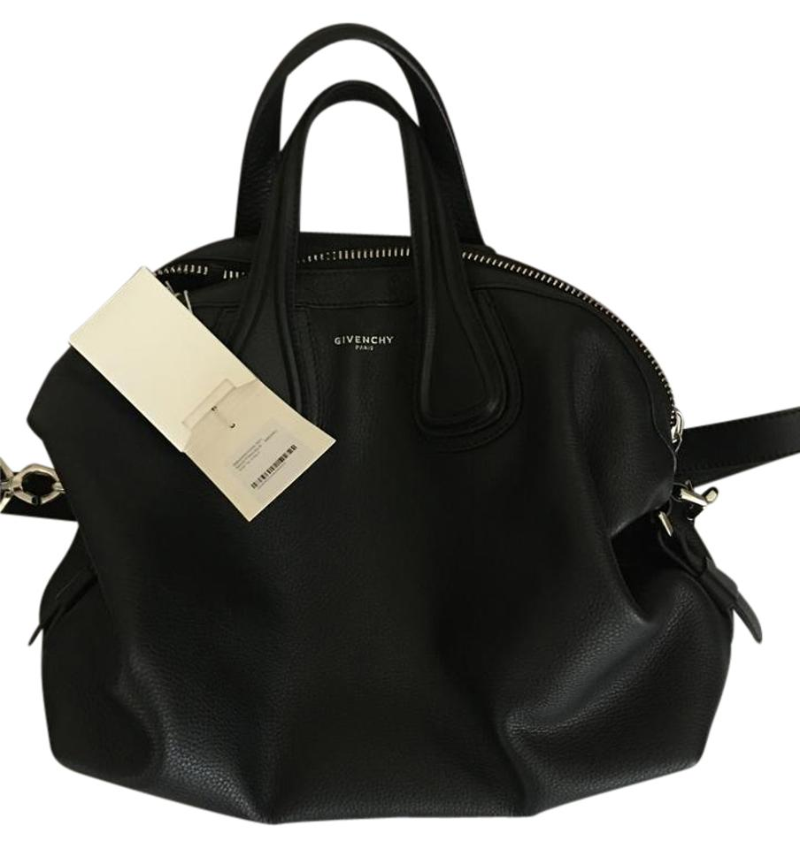 97f7dd490a Givenchy Nightingale Medium with Tags Black Calf Leather Satchel ...