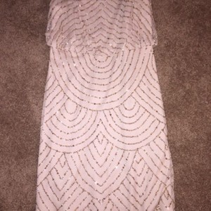 Adrianna Papell Champagne/gold Perfect Condition! Worn One Time Dress