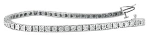 People's White Gold and Diamond Tennis Bracelet