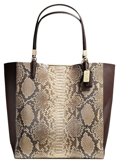 Coach Tote in LIGHT GOLD/BROWN MULTI