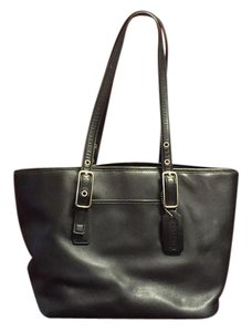 Coach Leather Purse Tote in Black
