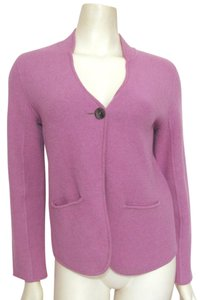 Eileen Fisher Lambswool Wool Lamb Jacket 4 6 Buttoned Sweater Cotton Petite Ps Cardigan