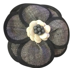 Rena Lange Beautiful Broach by Rena Lange, flower with petals in navy and white.
