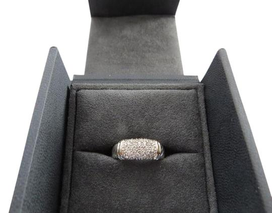 David Yurman Metro Collection - Pave' Metro SS/18k Diamond Ring; Size 6.75 Image 1