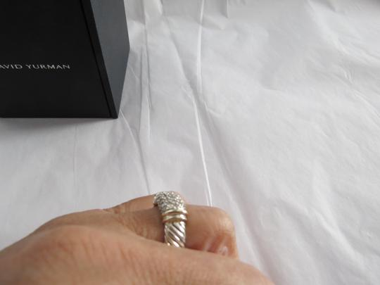 David Yurman Metro Collection - Pave' Metro SS/18k Diamond Ring; Size 6.75 Image 11