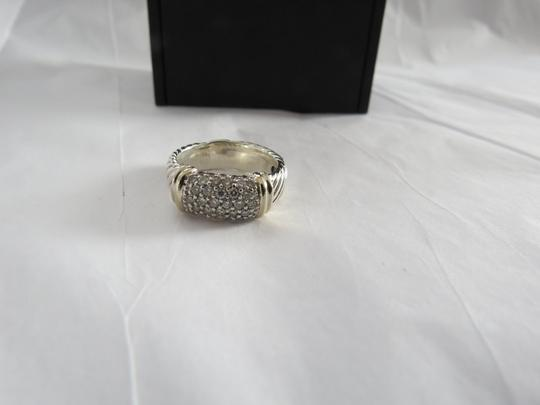 David Yurman Metro Collection - Pave' Metro SS/18k Diamond Ring; Size 6.75 Image 2