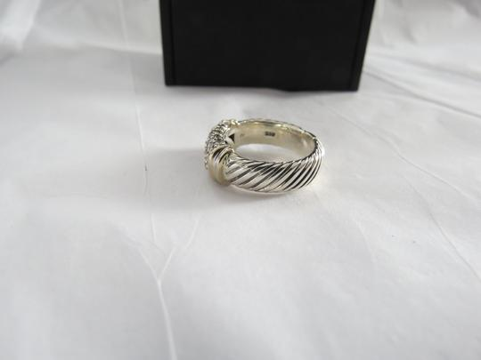 David Yurman Metro Collection - Pave' Metro SS/18k Diamond Ring; Size 6.75 Image 4