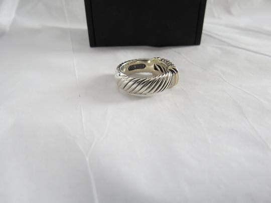 David Yurman Metro Collection - Pave' Metro SS/18k Diamond Ring; Size 6.75 Image 5