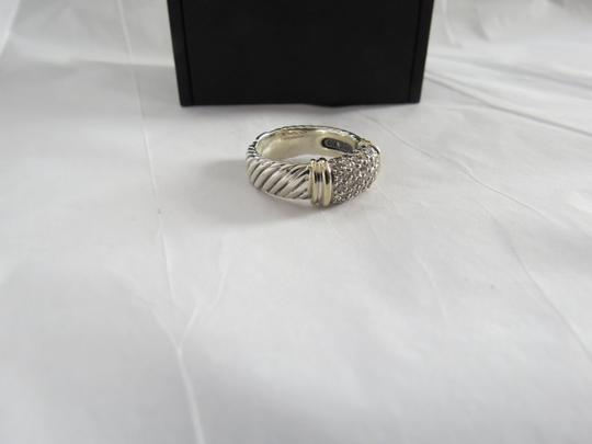 David Yurman Metro Collection - Pave' Metro SS/18k Diamond Ring; Size 6.75 Image 8