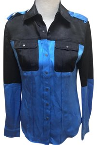 L.A.M.B. Button Down Shirt Blue and black