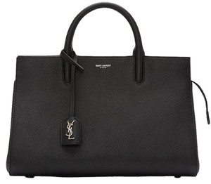 Saint Laurent Ysl Leather Satchel in Black