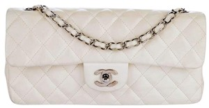 Chanel Classic Flap East West E/W Quilted Cc Logo Shoulder Bag