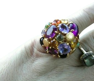 Coach Vintage Coach Multicolored Gemstone Ring