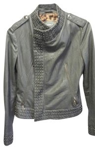 Kenna-T Charcoal Gray Leather Jacket