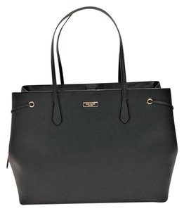 Kate Spade Laptop Work Shoulder Saffiano Tote in Black