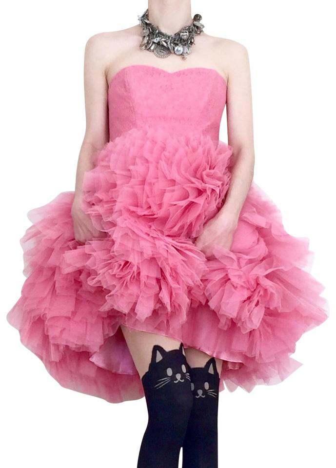 a051de9fe4016 Betsey Johnson Cotton Candy Pink Tallulah Strapless Tulle Mid-length ...