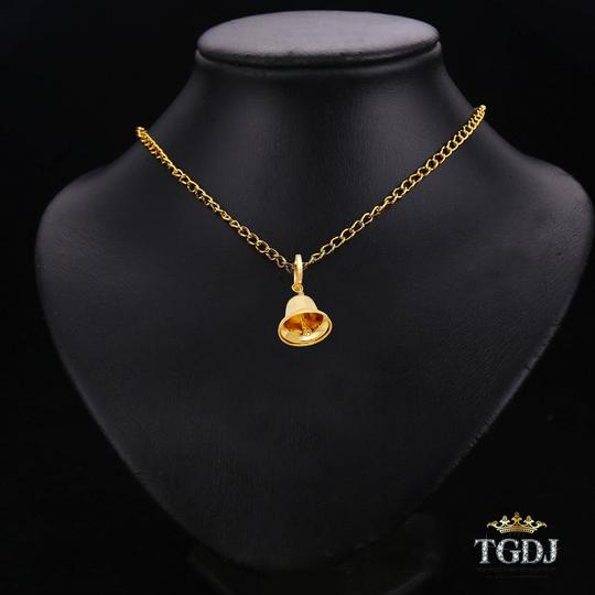 Top Gold & Diamond Jewelry Bell Pendant,14K Yellow Gold Bell Pendant, Height:10 MM Width:10 MM Image 2