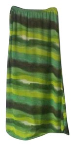 Speechless Sheer Maxi Skirt Green, Brown and Off White