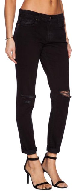 Item - Black Dark Rinse Jake Slim Destroyed Boyfriend Cut Jeans Size 27 (4, S)