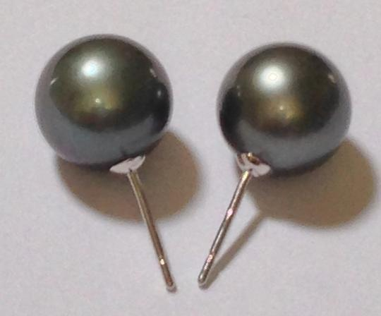 Other Final Reduction. 10mm Tahitian Pearls Stud Earrings in 14k GOLD