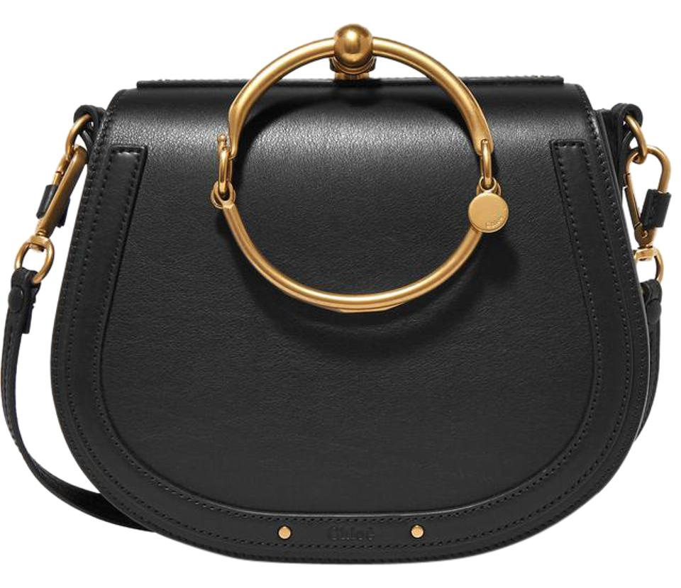 902992980160 Chloé Nile Sold Out Rare Medium Bracelet And Black Leather Suede ...