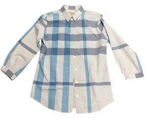 Burberry Brit Button Down Shirt blue grey