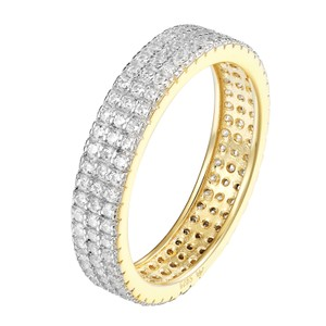 Other Wedding Eternity Ring 14k Gold Finish Sterling Silver Sterling 925