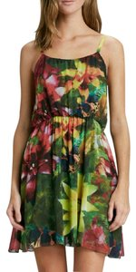 Alice + Olivia short dress Tropical Floral Print Sleeveless on Tradesy