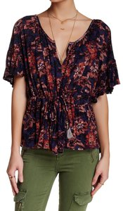 Free People Top Indigo Blue
