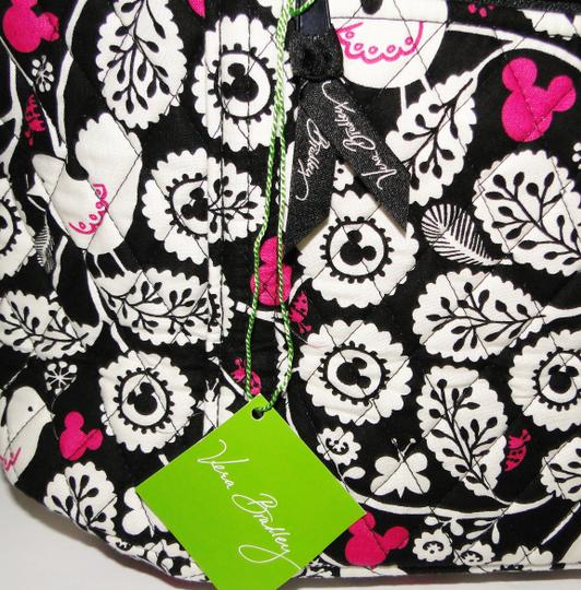 Vera Bradley Mickey Color Craze Quilted Mickey Meets Birdie Tote in Black, White & Pink Image 3