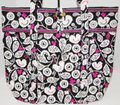Vera Bradley Mickey Color Craze Quilted Mickey Meets Birdie Tote in Black, White & Pink Image 4