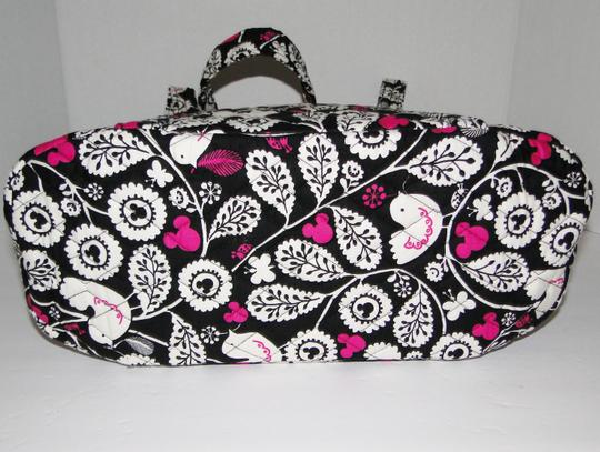 Vera Bradley Mickey Color Craze Quilted Mickey Meets Birdie Tote in Black, White & Pink Image 5