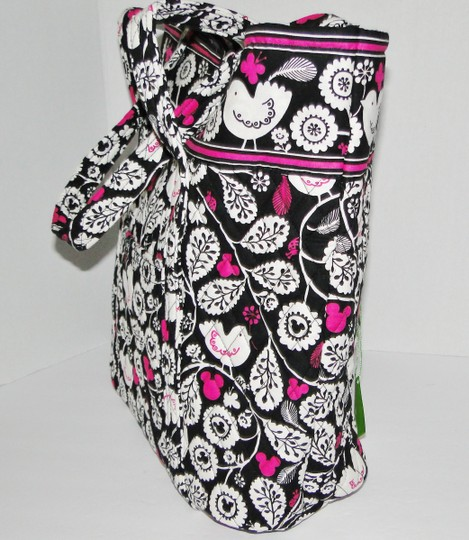 Vera Bradley Mickey Color Craze Quilted Mickey Meets Birdie Tote in Black, White & Pink Image 9