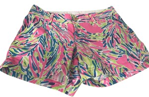 Lilly Pulitzer 5 Inch Classic Mini/Short Shorts Mulit Hot Pink, Green,Navy, Lavender,Aqua