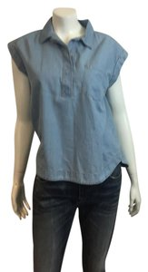 True Religion Denim Shirt J Crew Club Monaco Button Down Shirt blue