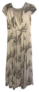 White w/ Floral Pattern Maxi Dress by Free People Midi Spring Capped Sleeve